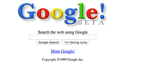 Google website 1990s